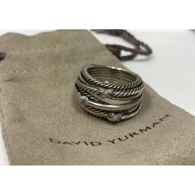 Antique, Estate & Consignment David Yurman Crossover Diamond Ring
