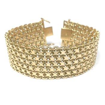 Wide 18k Gold Bracelet