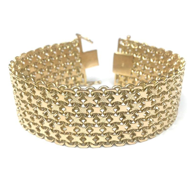 Antique, Estate & Consignment Wide 18k Gold Bracelet