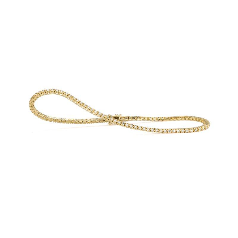 Facet Barcelona Yellow Gold .50 Carat Tennis Bracelet