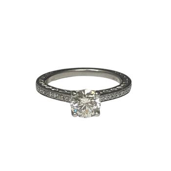 Platinum Ritani Diamond Engagement Ring