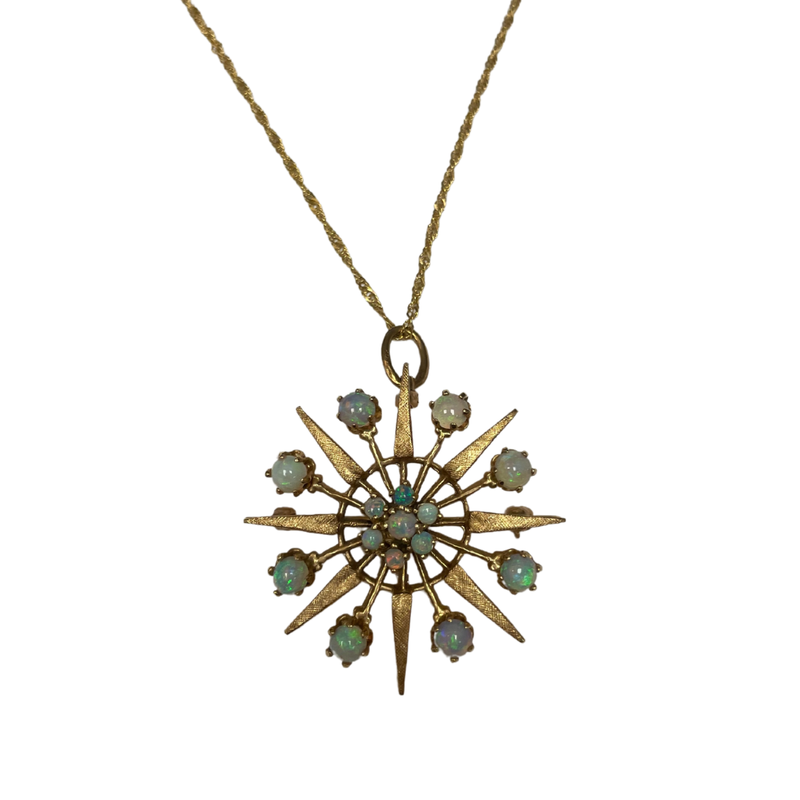 Antique, Estate & Consignment Opal Star Necklace