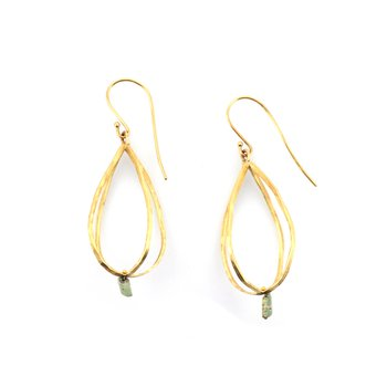 14k Cage Earring