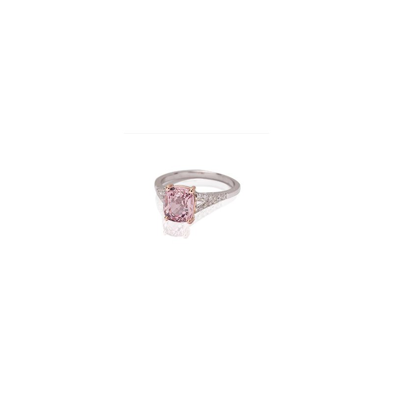 Kimberly Collins Pink Spinel & Diamond Ring