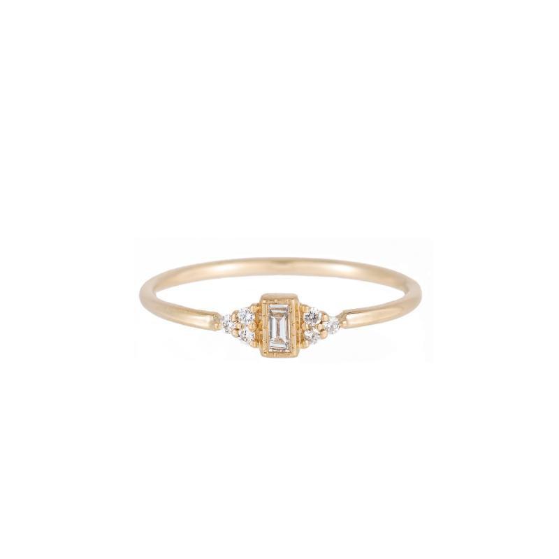 Jennie Kwon Diamond Baguette Cluster Whisper Ring