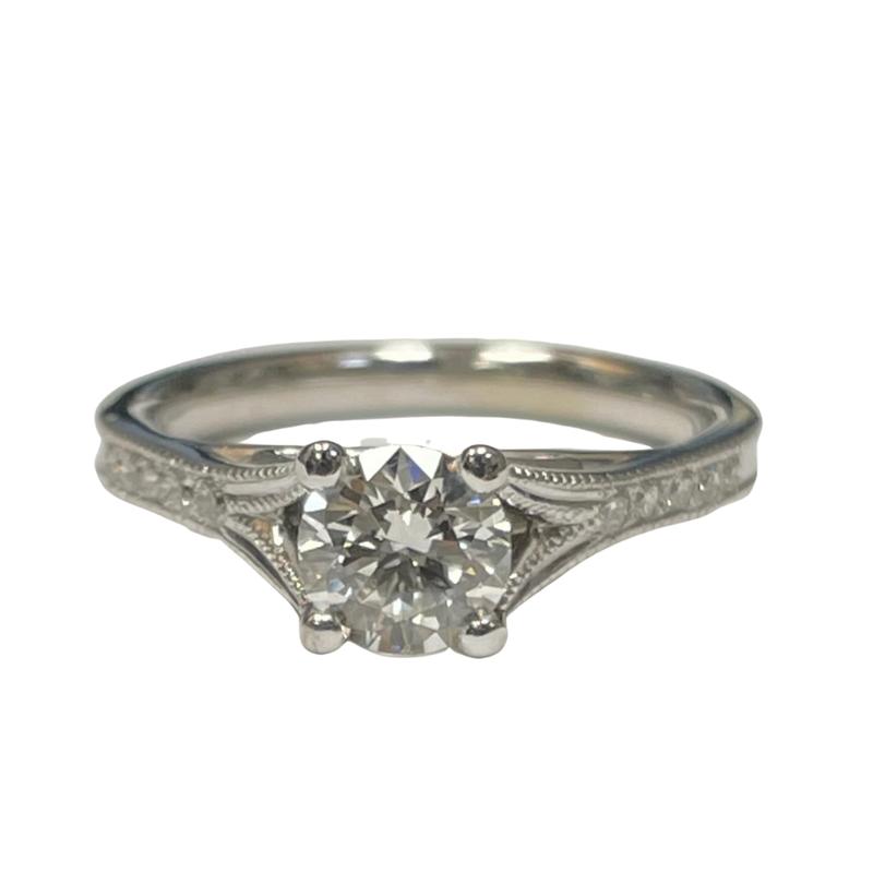 Antique, Estate & Consignment Milgrain Diamond Engagement Ring