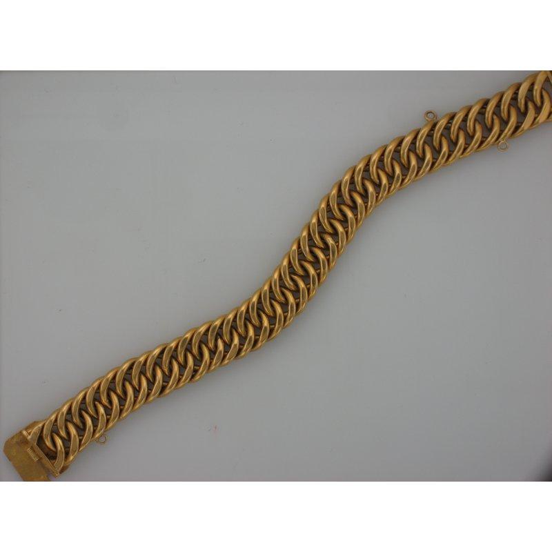 Antique, Estate & Consignment 22k Light Curb Bracelet
