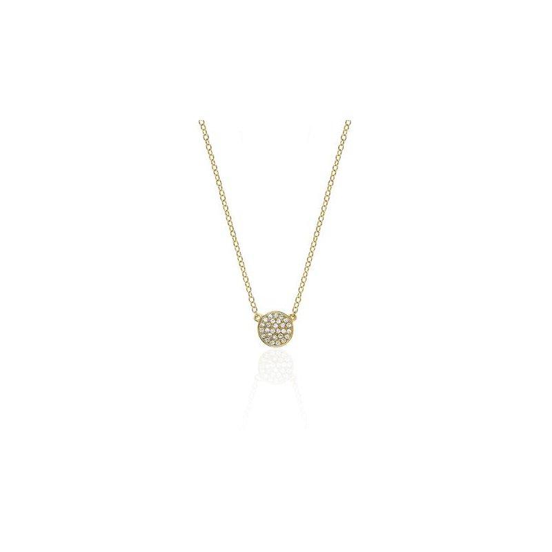 EF Collection Mini Diamond Disc Necklace