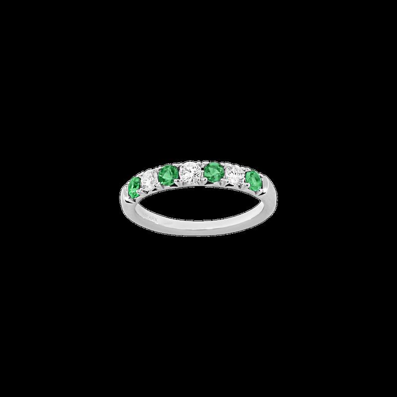 Spark Creations Alternating Diamond & Emerald Band