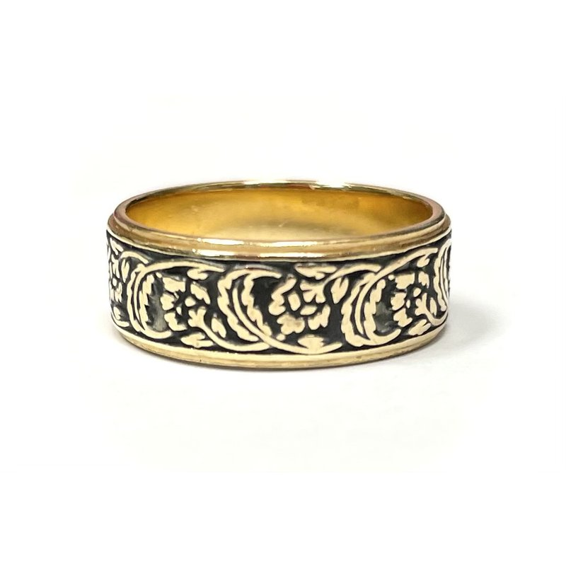 Antique, Estate & Consignment Enameled Engraved Band