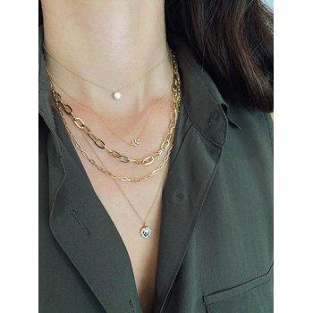 Diamond Leaf Necklace