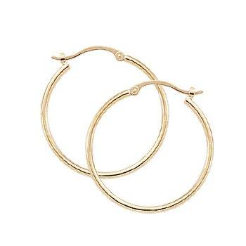 14k Hoop Earrings 1.5 x 25mm