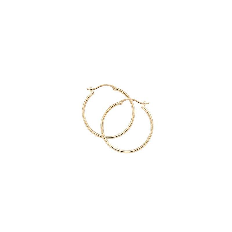 Carla Nancy B 14k Hoop Earrings 1.5 x 25mm