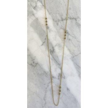 Champagne Diamond Triple Station Necklace