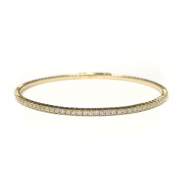 14k Yellow Gold Flexible Diamond Tennis Bracelet
