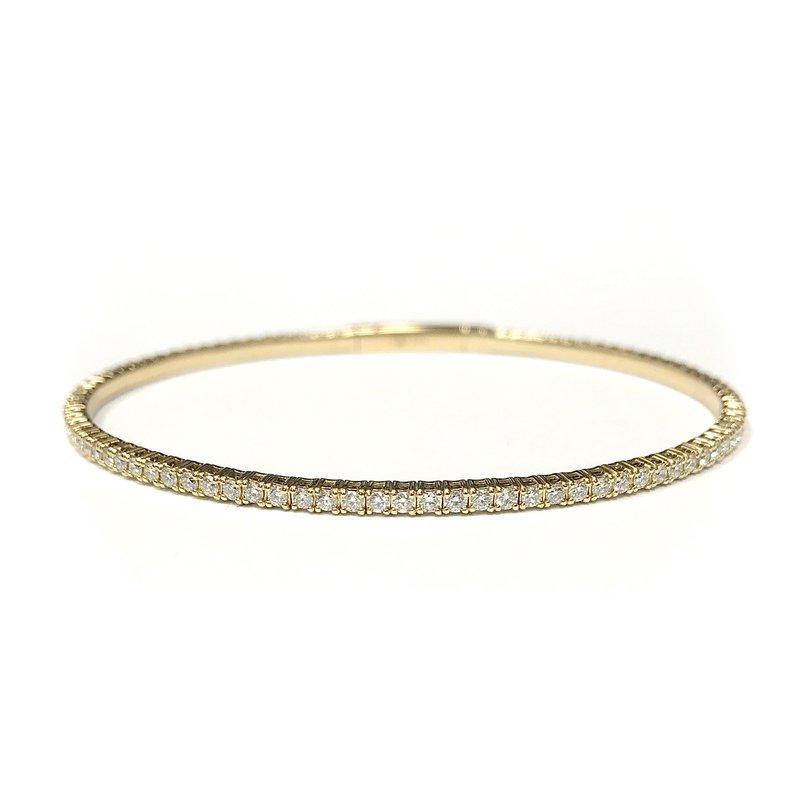 IDD Jewelry 14k Yellow Gold Flexible Diamond Tennis Bracelet