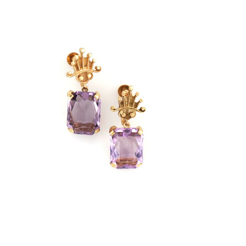 Antique, Estate & Consignment Amethyst Earrings