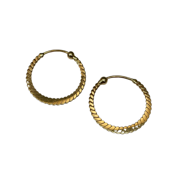 Twisted Thin Hoop Earrings