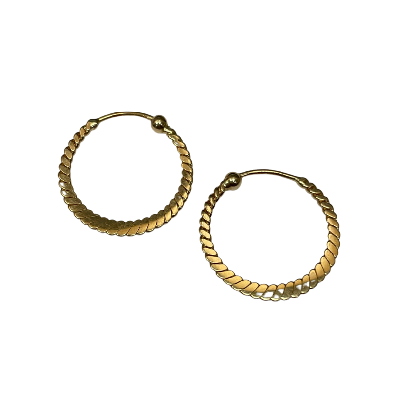 Antique, Estate & Consignment Twisted Thin Hoop Earrings