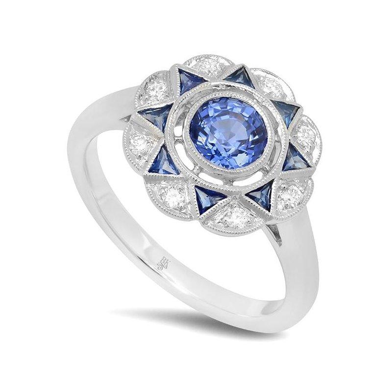 Beverley K Sapphire & Diamond Ring