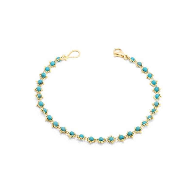 Amali Textile Bracelet in Turquoise