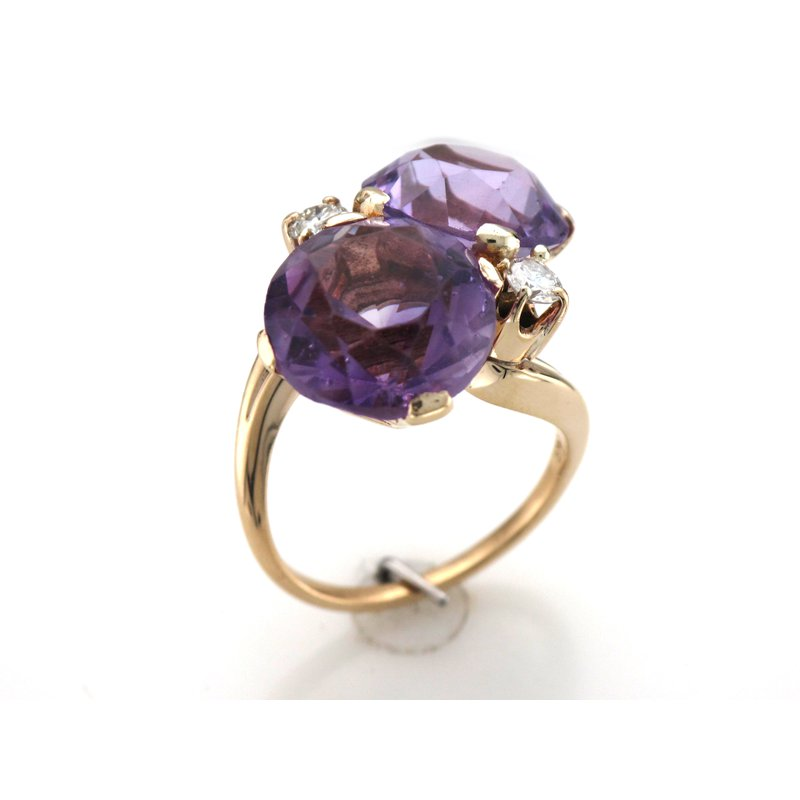 Antique, Estate & Consignment Amethyst & Diamond Cocktail Ring