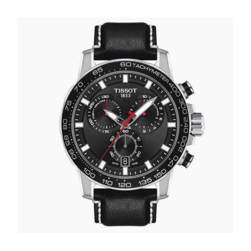Tissot Supersport Chronograph Watch - Black Dial/Black Strap