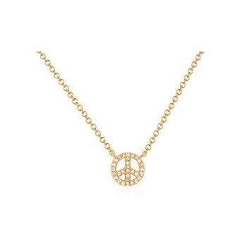 Mini Diamond Peace Necklace