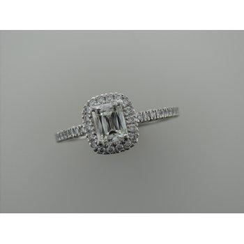 Platinum Radiant Cut Engagement Ring