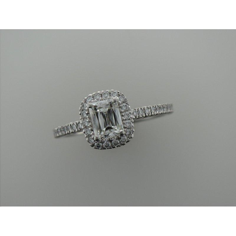 Antique, Estate & Consignment Platinum Radiant Cut Engagement Ring