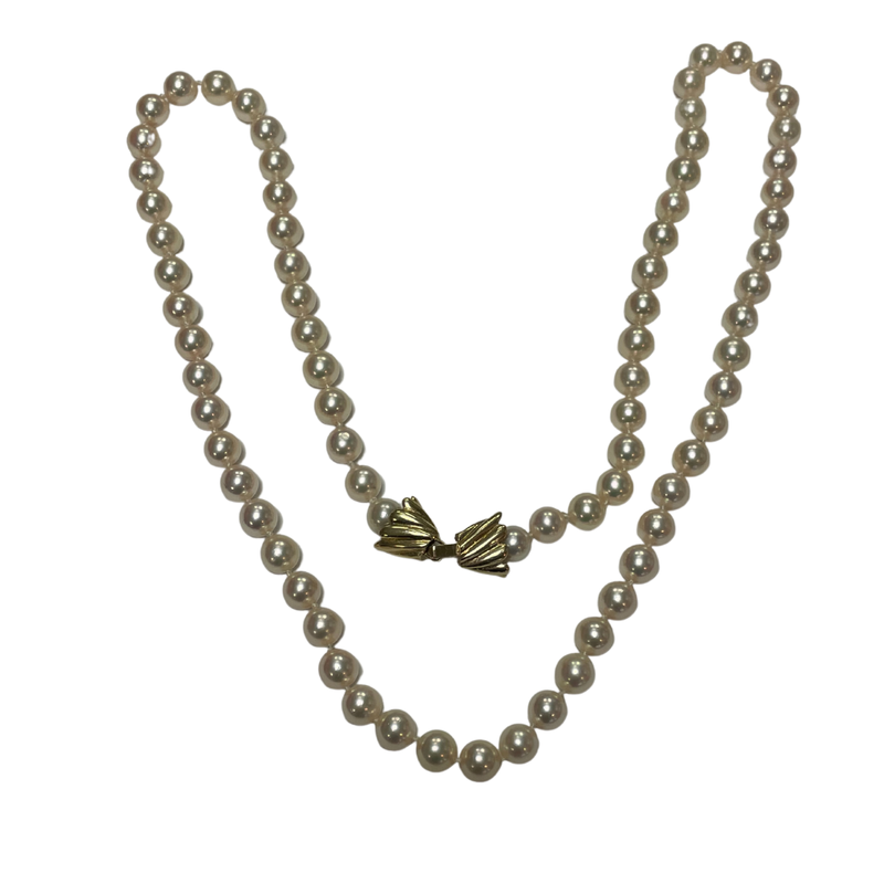 Antique, Estate & Consignment Pearl Necklace with 14k Clasp