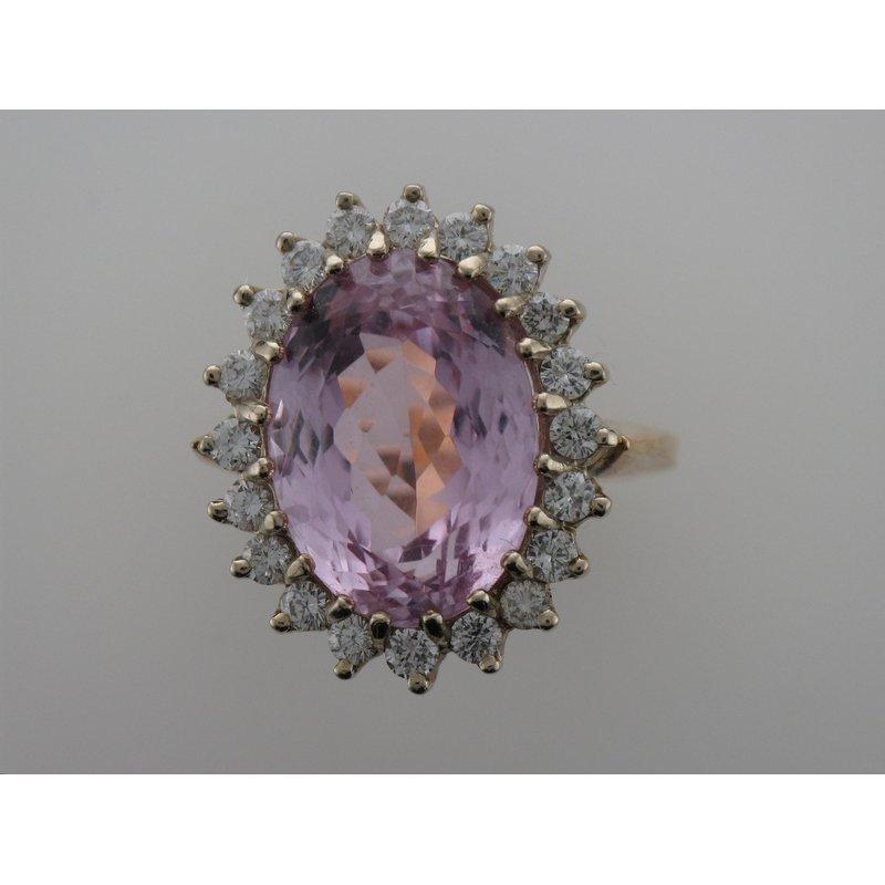 Antique, Estate & Consignment Kunzite & Diamond Ring