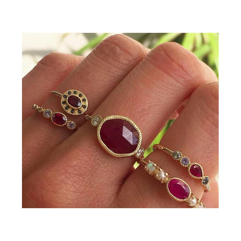Jennie Kwon Ruby Halo Ring