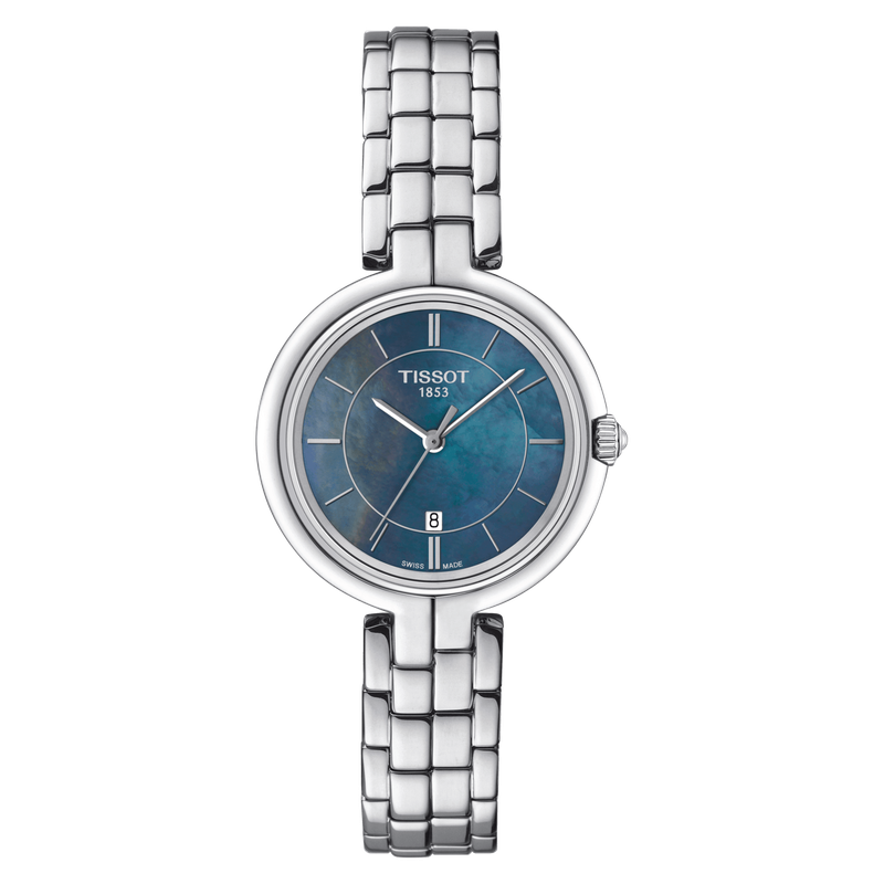 Tissot Flamingo with Blue Mother of Pearl Dial