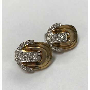 Art Deco Style Diamond Earrings