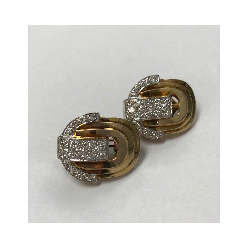 Antique, Estate & Consignment Art Deco Style Diamond Earrings