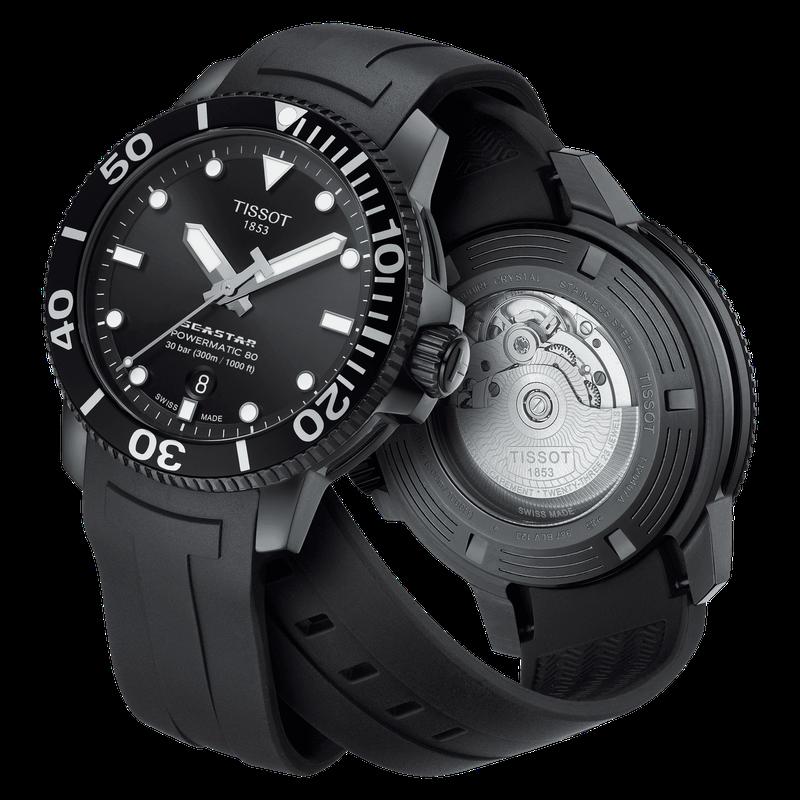 Tissot Seastar 1000 Powermatic 80 Black