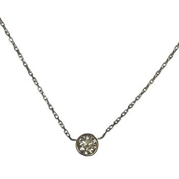0.46 Carat Bezel Set Necklace