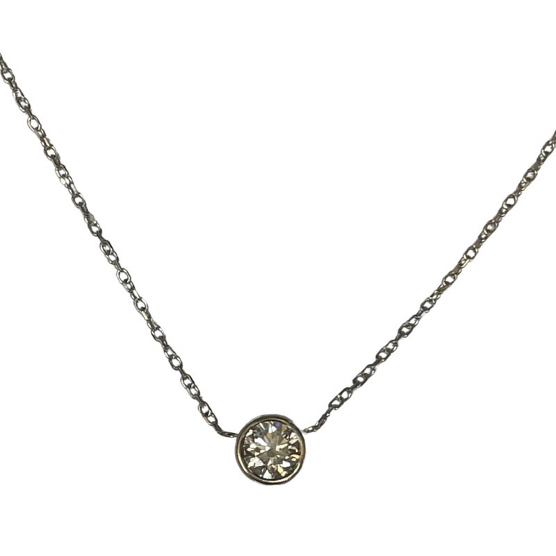 Hurdle's Jewelry Collection 0.46 Carat Bezel Set Necklace