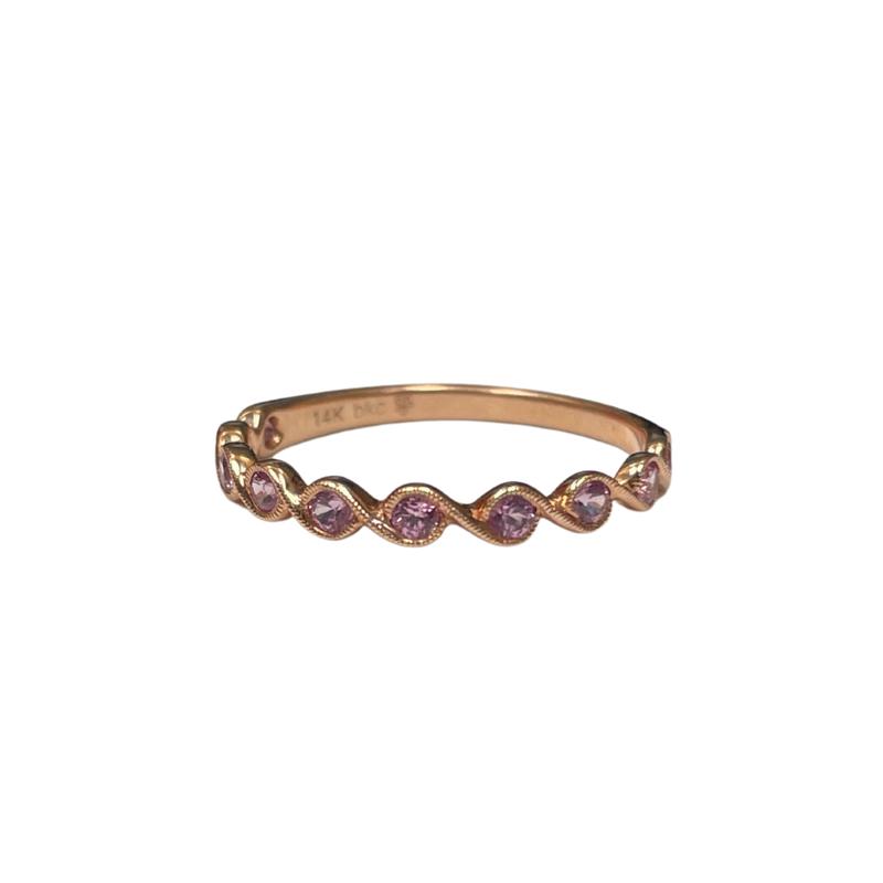 Beverley K 14k Rose Gold Pink Sapphire Ring