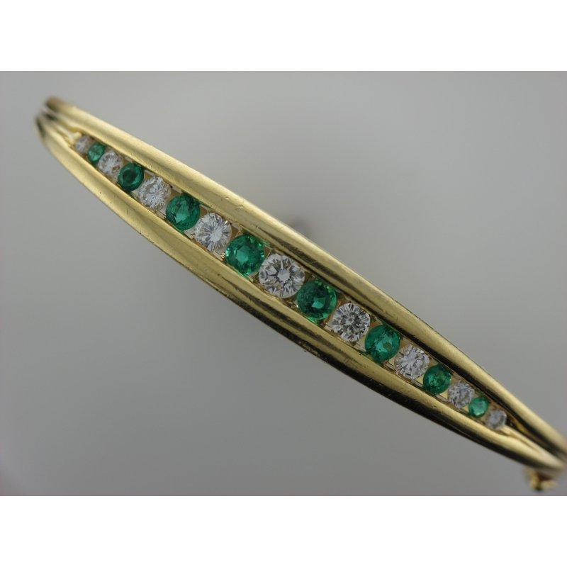 Antique, Estate & Consignment Emerald & Diamond Bangle Bracelet