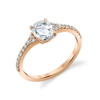 Lumiere Bridal Rose Cut Diamond Ring LMBR4187