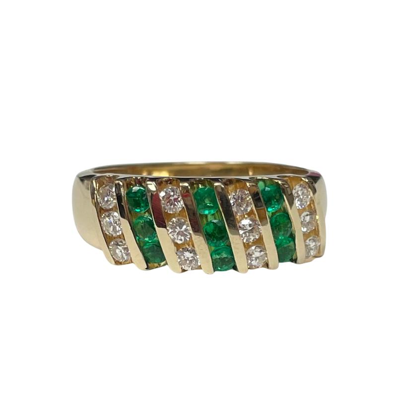 Antique, Estate & Consignment 18k Emerald & Diamond Ring