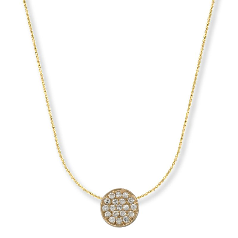 Hurdle's Jewelry Collection Diamond Pave Disc Necklace