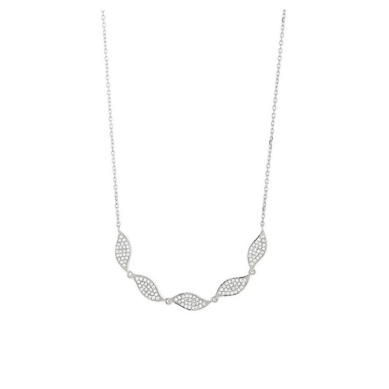 Facet Barcelona Diamond Leaf Necklace