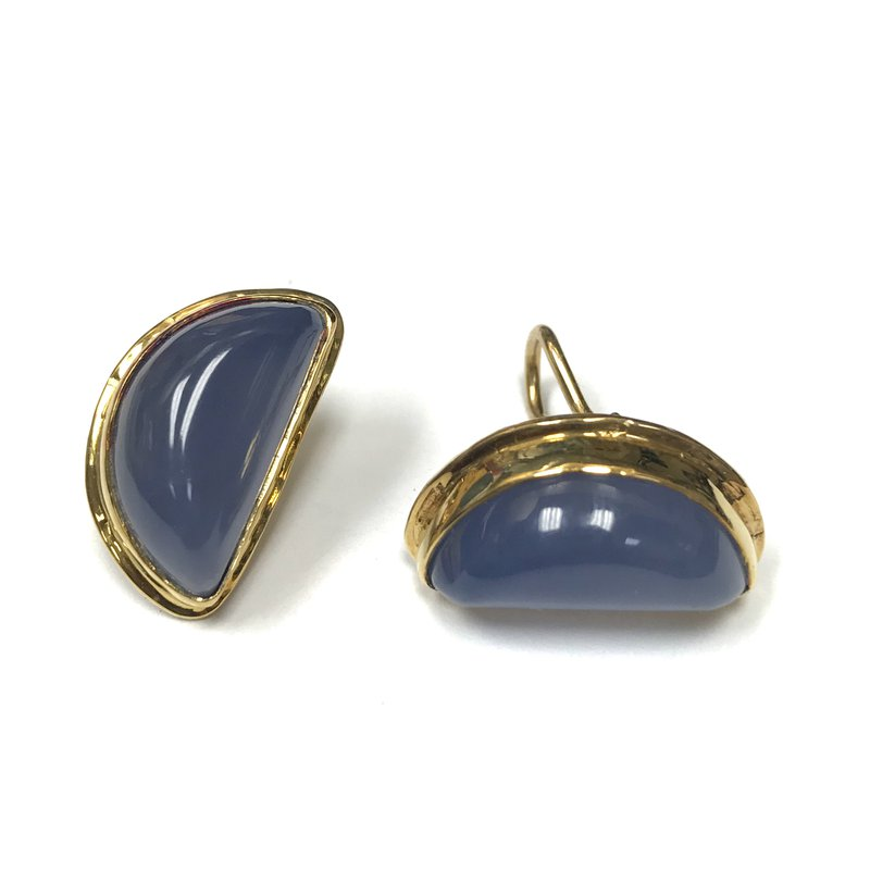 Antique, Estate & Consignment Blue Chalcedony Earrings