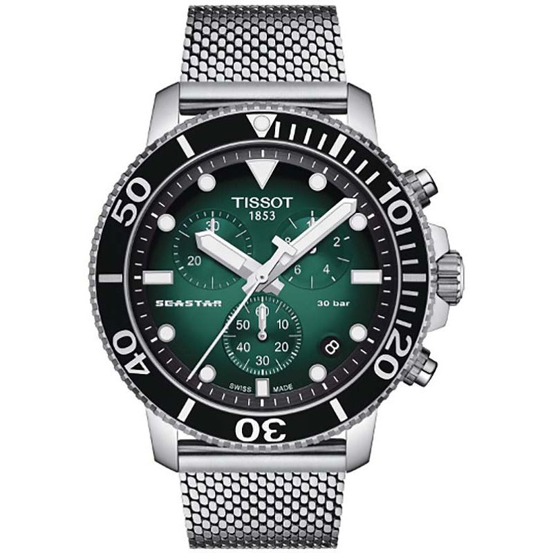 Tissot Seastar Chronograph - Green Dial