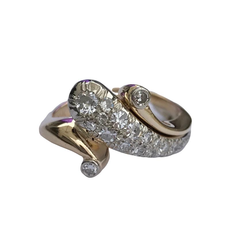 Antique, Estate & Consignment Diamond Swirl Ring