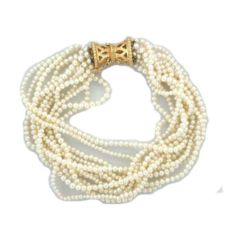 Antique, Estate & Consignment Freshwater Pearl Multi Strand Bracelet