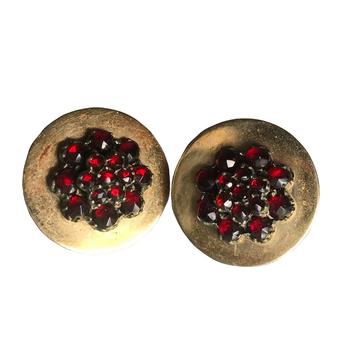 Cluster Garnet Earrings